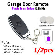 2x For Liftmaster Craftsman 355lm , 365lm Garage Door Remote Purple Learn Button