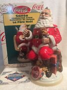 Anheuser Busch Coke-cola Santa Character Stein Cs394 Signed