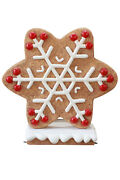 41 Red Gingerbread Winter Snowflake Christmas Statue Holiday Display Style 3