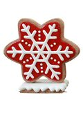 41 Iced Red Gingerbread Winter Snowflake Christmas Prop Holiday Display Style 1