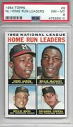 Hank Aaron/willie Mays 1964 Topps Nl Hr Leaders Psa 8 Centered/just Graded