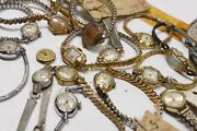 Vintage Ladies Watches - Mixed Lot Of 31 Watches For Parts, Scrap Or Repair