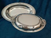 Epca Silverplate Oval Covered Dish W/lid By Poole 1892