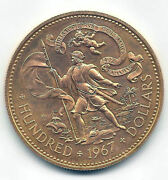 Bahamas 100 Dollars 5 Pounds 1967 Gold @1492 Colon Cleanse @without Circular@