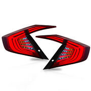 Free Shipping To Pr For 2016-2017 Honda Civic Red Smoked Led Taillights Assembly