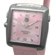 Tag Heuer Professional Sports Womenand039s Watch Quartz Pink Shell Dial Date 36mm