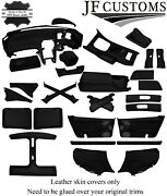 Black Stitch Leather Covers For Nissan 300zx Z32 Full Interior Recovery Kit