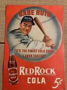 Babe Ruth Red Rock Cola It's The Finest Cola Drink I Ever Tasted Metal Sign