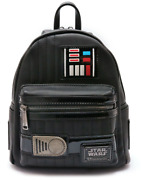 New Loungefly Mini Backpack Star Wars Darth Vader Synthetic Leather F/shipping
