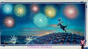 Disney Epcot Figment Andldquobest View In The Houseandrdquo 14x18andrdquo Matted Print Signed Rob Kaz