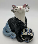 Amy Lacombe Whimsiclay Motorcycle 2004 Wilittis Designs Cat Figurine