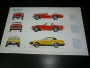 Pictures Of Classic Cars To Frame. Triumph - Tr 2 - Tr 4 - Tr 7