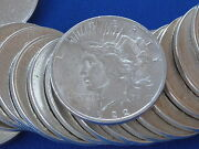 1922-p Peace Silver Dollar Brilliant Uncirculated Roll Of 20 B6450