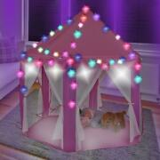 Kids Princess Castle Play Tent Girl Playhouse Toy Game House+a String Of 40