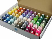 63 Brother Colors 550y Polyester For Thread Kit Embroidery And Sewing Machines