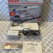 Singer Handy Stitch Model Cex300kd Vtg Quality Sewing Machine W Thread And Manuals