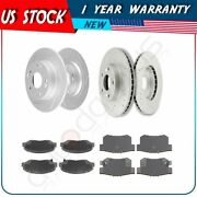 For 2014-2015 Acura Ilx Honda Civic Front + Rear Brake Pads And Rotors Discs Kit