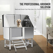 Pet Dog Cat Wash Shower Professional Grooming Bath Tub Stainless Steel 50