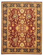 Vintage Hand-knotted Carpet 9and0392 X 12and0394 Traditional Oriental Wool Area Rug