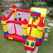 Yard Large Inflatable Bouncer Trampoline With Obstacle Slide 43.82.5m Outdoors