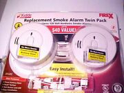 Kidde Firex Replacement Smoke Alarms Twin Pack White New 21028795a
