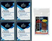 100 Protech 3x4 Sports Cards Toploaders + 100 Ultra Pro Clear Soft Sleeves 35pt