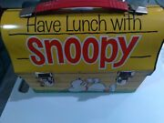 1968 Vintage Snoopy Lunch Box Have Lunch With Snoopy With Thermos