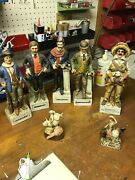 Porcelain Decanter- Old Western Themed. Original Boxes. 40ea Or Buy All 600