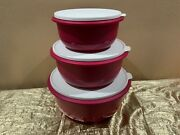 New Tupperware Set Of 3 Ultimate Mixing Nesting Bowls With Lids 9.5l, 6l And 3.5l