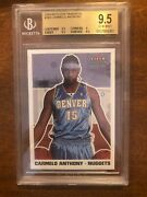 03-04 Carmelo Anthony Fleer Tradition 263 Rookie Rc Bgs 9.5 Gem Mint