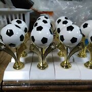 10--vintage Soccer Trophies--nos--great For Crafts/projects--selling Together