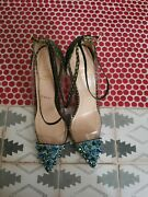 Christian Louboutin Sexy Spiked Shoes Sz 39 Rare