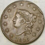 1826/5 Coronet Head Large Cent Very Appealin Beautiful Scarce Overdate Newcomb8