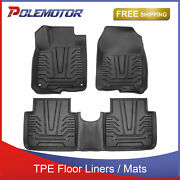 Set Front+rear Tpe Floor Mats Liners Foot Pads For 17-21 Honda Cr-v All Weather