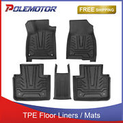 Set Front+rear Tpe Rubber Floor Mats Liners For 18-21 Honda Accord All Weather