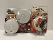 Kidde Alarm 3 Pack Worry Free Smoke Alarms Sold As-is Lot