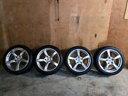 Porsche Cayman Winter Wheel And Tire Package W/ Tpms, Michelin Pa4, Almost New