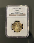 Authentic 2010 American Eagle G25 1/2 Ounce .9999 Gold Ms 70 Ngc