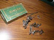 4670 Vintage Singer Simanco Usa Sewing Machine Attachments And Tools Original Box