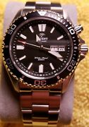 Orient Mako Usa Gen 1, Automatic Ray Japan, Solid End Links Black Dial Sapphire