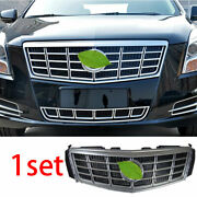 For 2013-2015 Cadillac Xts Silver Car Front Center Mesh Grille Grill Cover Trim