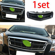 For 2016-2017 Cadillac Xts Silver Car Front Center Mesh Grille Grill Cover Trim