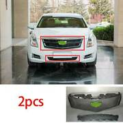 For Cadillac Xts 2013 2014-2017 Abs Black Front V-type Grille Grill Cover Trim
