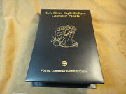 American Silver Eagle Lot Of 23 Postal Commemorative Society - Gold Highlights