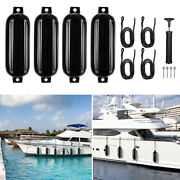 4 Ribbed Marine 8.5 X 27 Boat Fender Bumper Dock Shield Protection With Rope