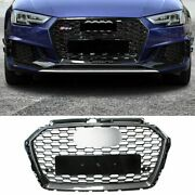 Front Grill For 2017-2019 Audi A3 S3 Carbon Look Frame Honeycomb Rs3 Style Black