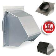 Wall Vent Cover Exterior Cap 6 Duct Vent Silver Kitchen Exhaust Fan Range Hood