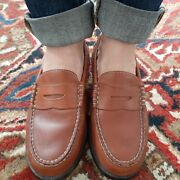 G.h. Bass Crane Leather Penny Loafer Weejuns Boys Size 4 1/2 M Women's Size 6