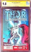 Thor God Of Thunder 25 Vol 1 Cgc Ss 9.8signed By Stan Lee And Chris Hemsworth