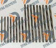 17x Hss Valve Guide Reamer Combo 3mm To 8mm Extra Long Spiral Flute Plastic Case